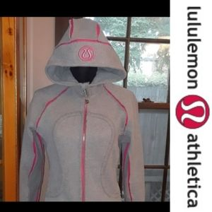 Size  6 lululemon special edition pink and grey hoodie